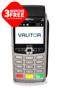 3 months free card terminal rental offer on Ingenico IWL series