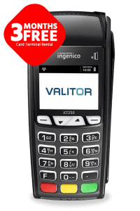 3 months free card terminal rental offer on Ingenico ICT series